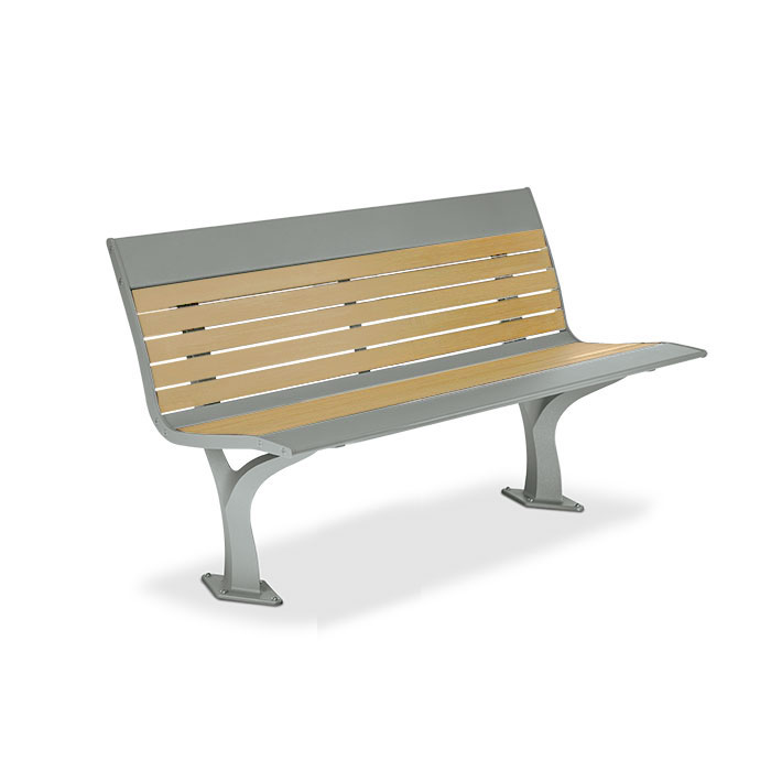 AL1984R  Allure Recycled Plastic 4' Contour Bench