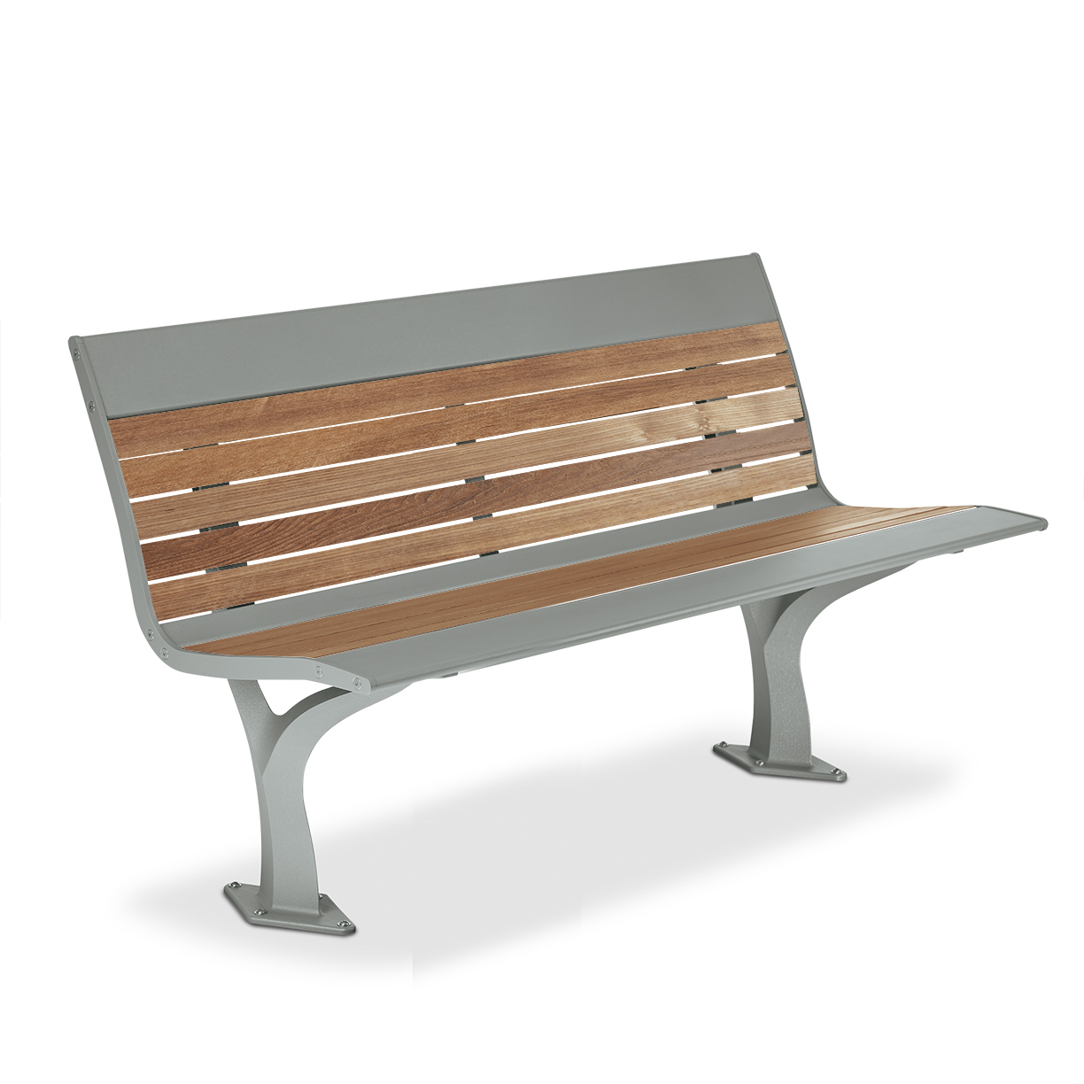 AL1984T  Allure Collection Thermony Slat 4' Contour Bench