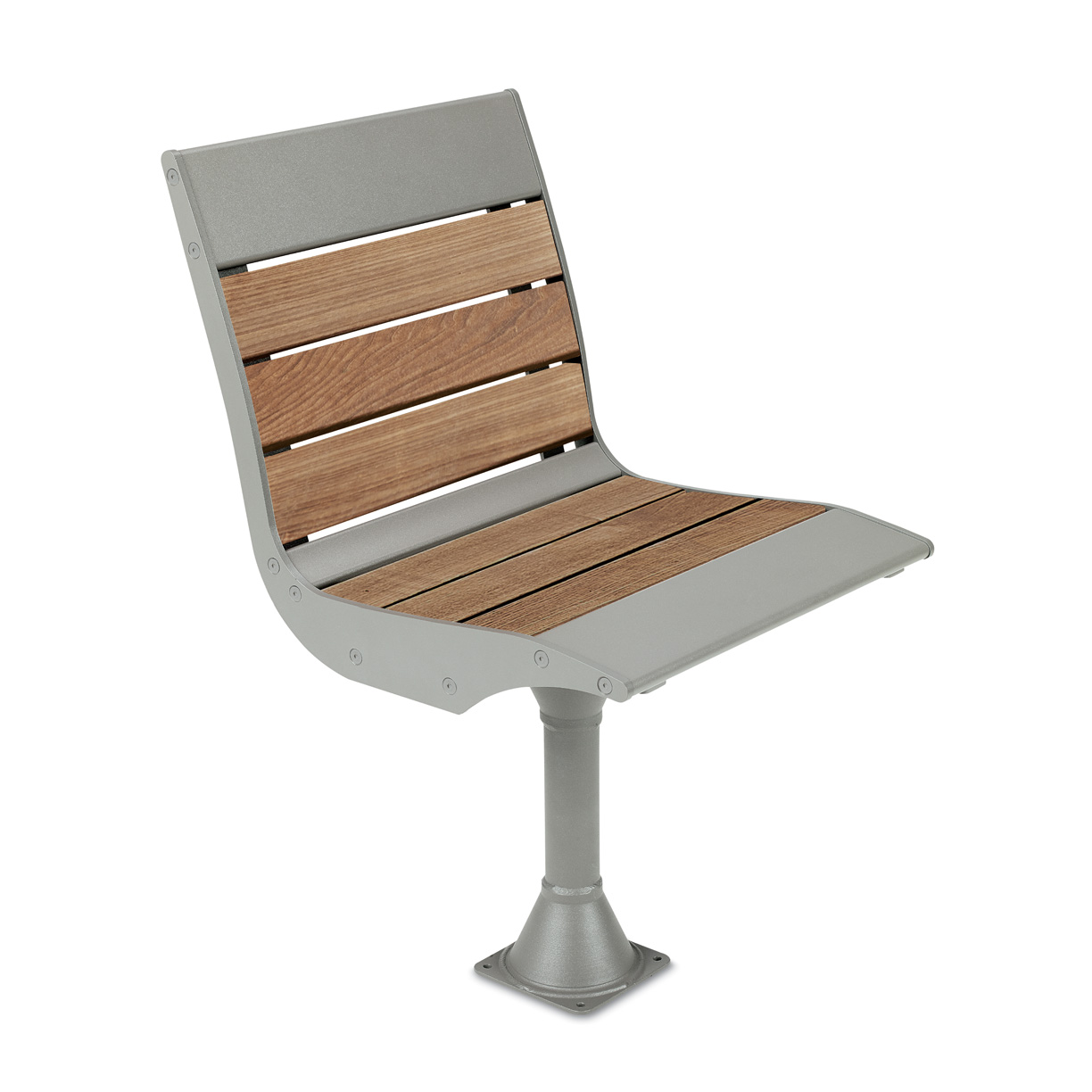 BH1811T  Beacon Hill Collection Thermony Slat Pedestal Chair