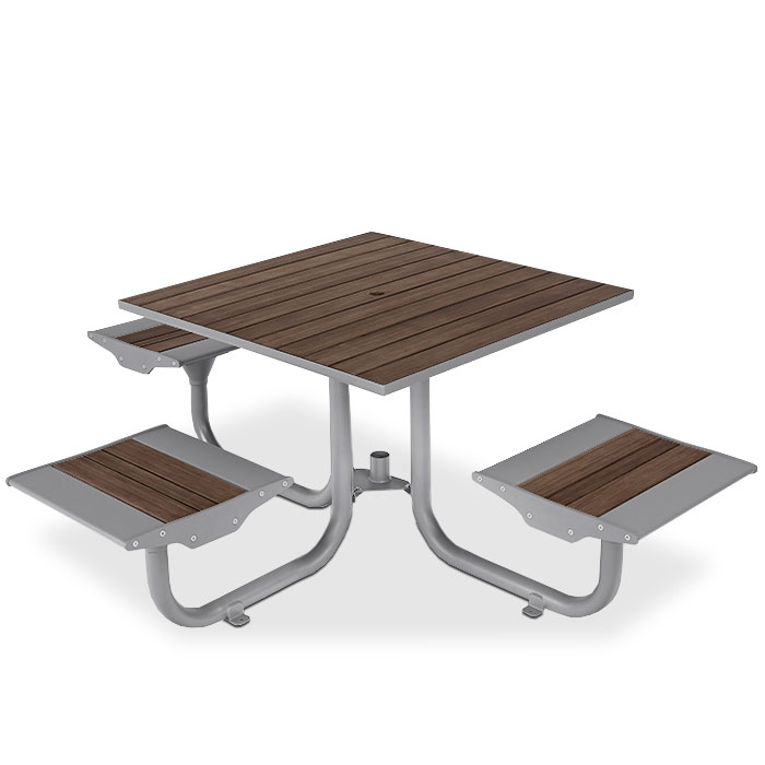 BH1831B  Beacon Hill Collection ADA Compliant Bamboo Table with (3) Flat Seats