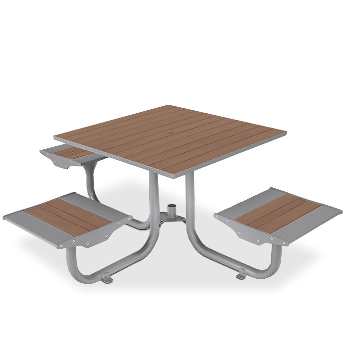 BH1831R  Beacon Hill Collection Recycled Plastic Table with (3) Flat Seats