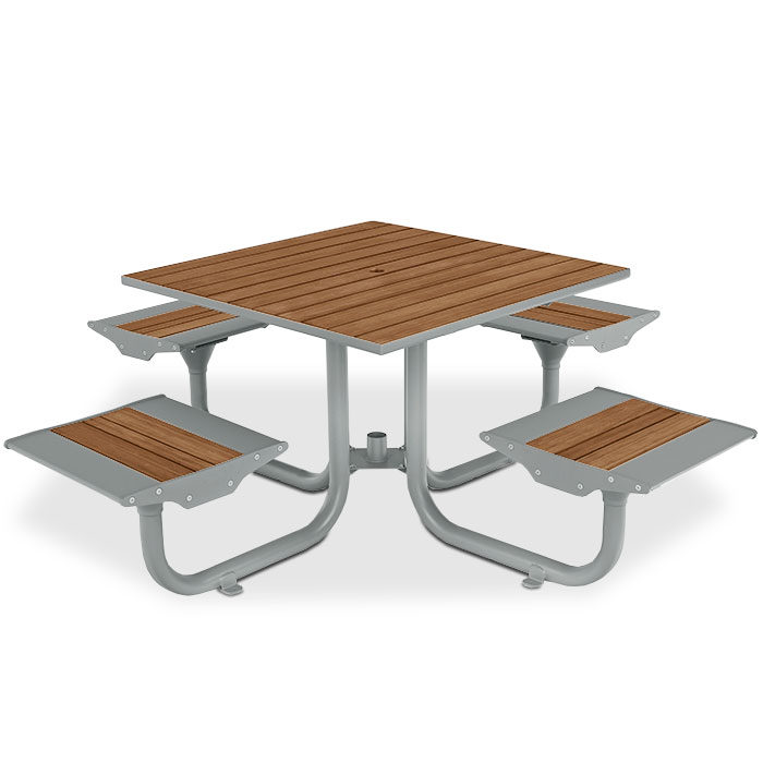 BH1841B  Beacon Hill Collection Bamboo Table with (4) Flat Seats