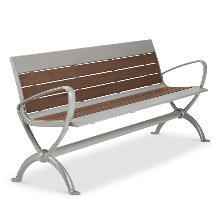 BH1880R  Beacon Hill Collection 6' Recycled Plastic Contour Bench