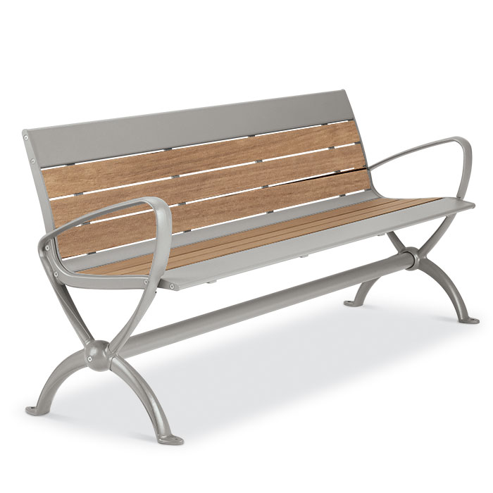 BH1880T  Beacon Hill Collection Thermony Slat 6' Contour Bench