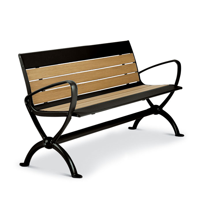 BH1884R  Beacon Hill Collection 4' Recycled Plastic Contour Bench
