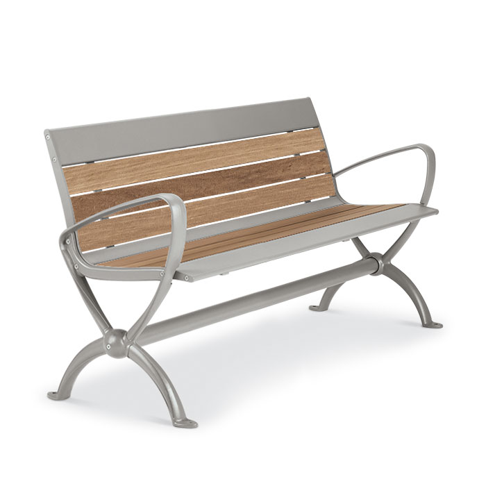 BH1884T  Beacon Hill Collection Thermony Slat 4' Contour Bench