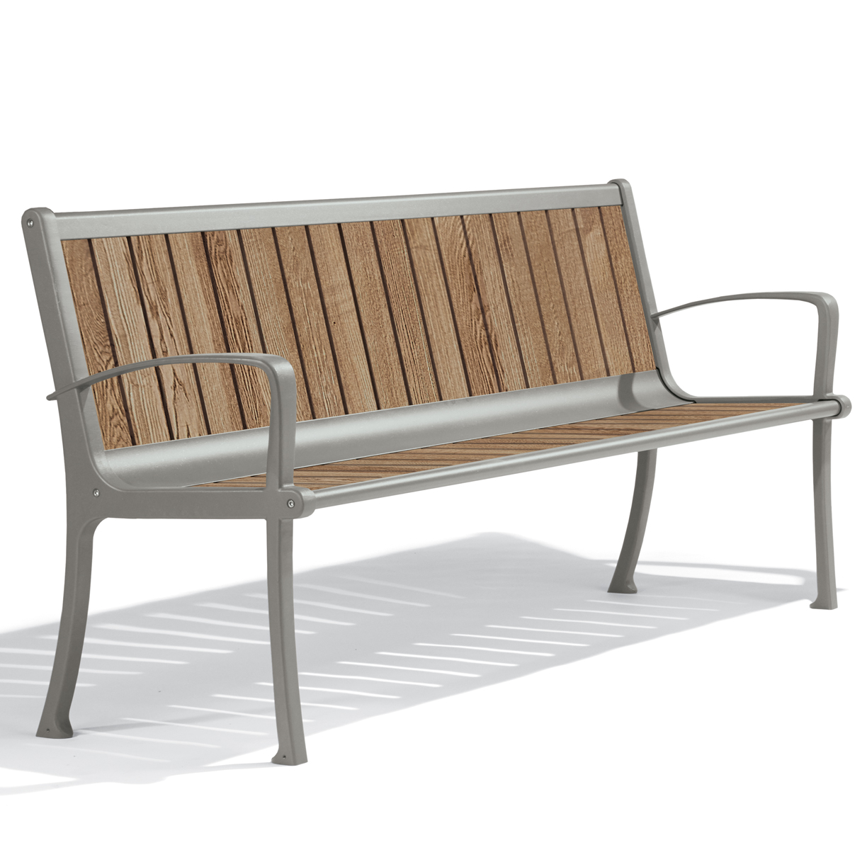 Coronoda Collection 6' Thermory Slat Contour Bench