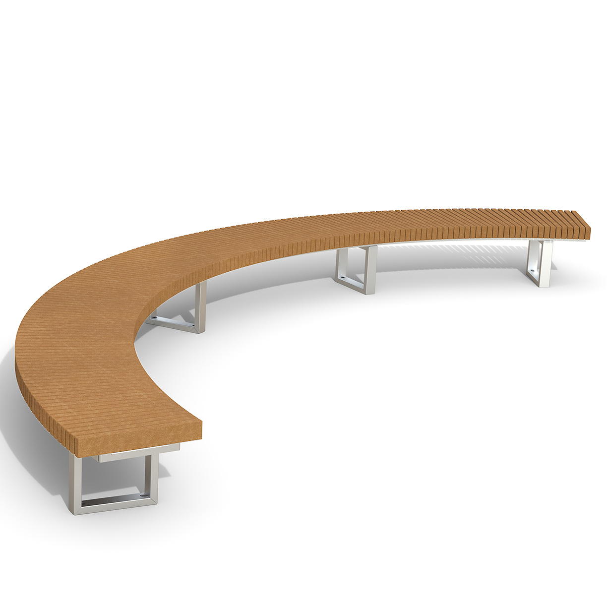 INF24C12120R  Infinity Collection 12' Radius / 120 Degree Curved Recycled Plastic Bench