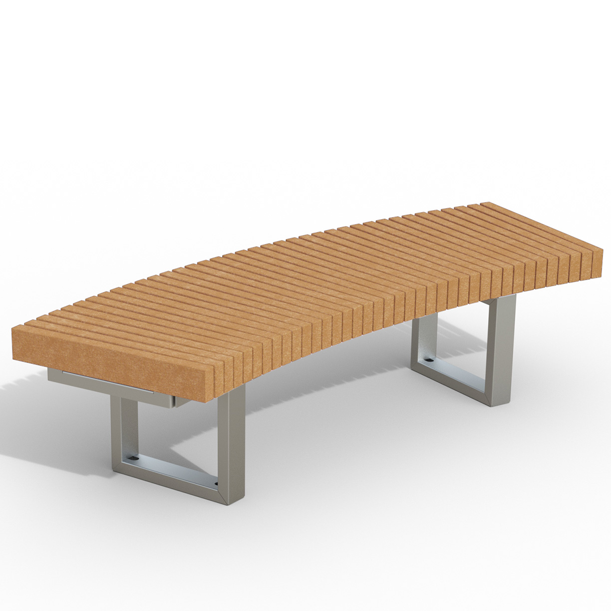 INF24C1230R  Infinity Collection 12' Radius / 30 Degree Curved Recycled Plastic Bench