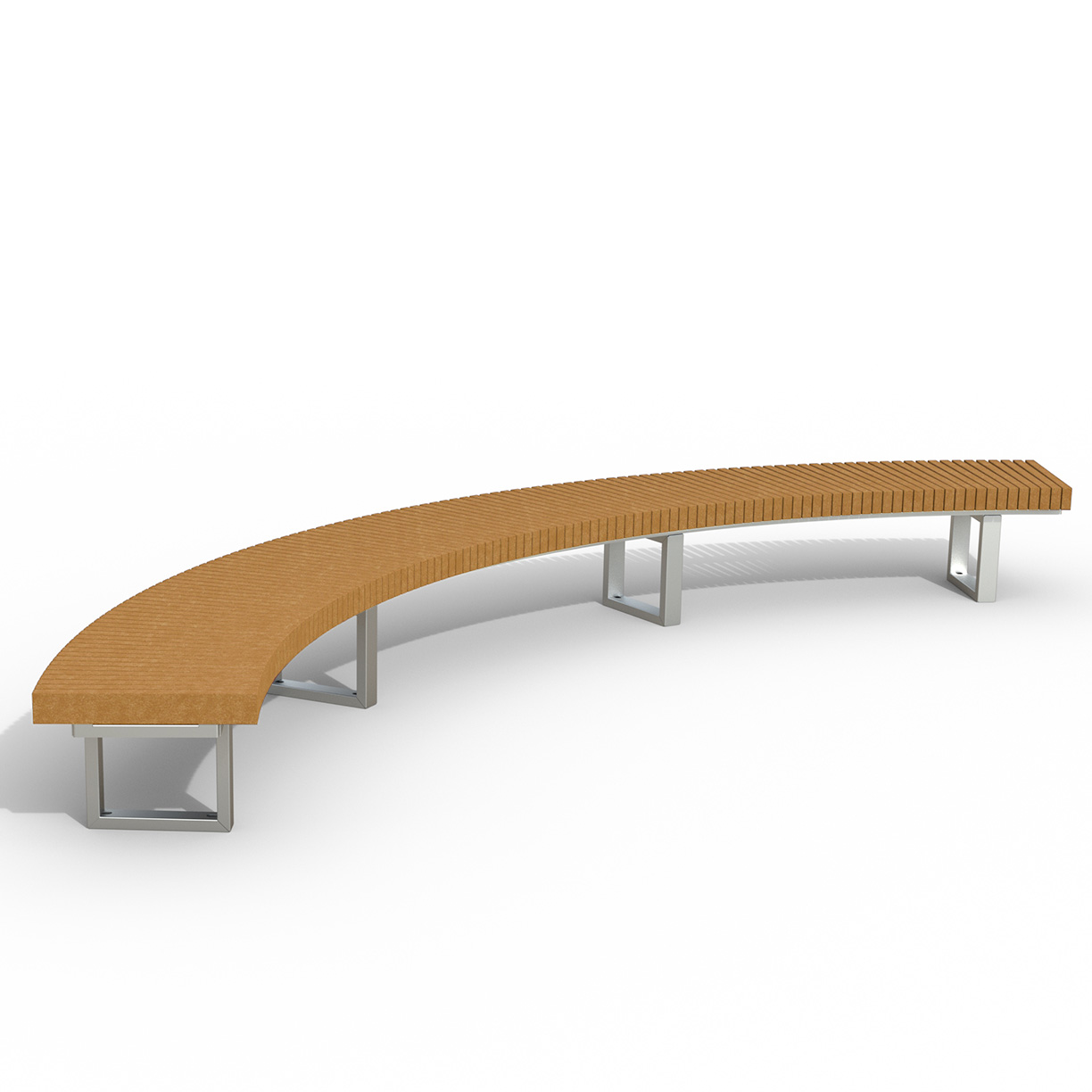 INF24C1290R  Infinity Collection 12' Radius / 90 Degree Curved Recycled Plastic Bench