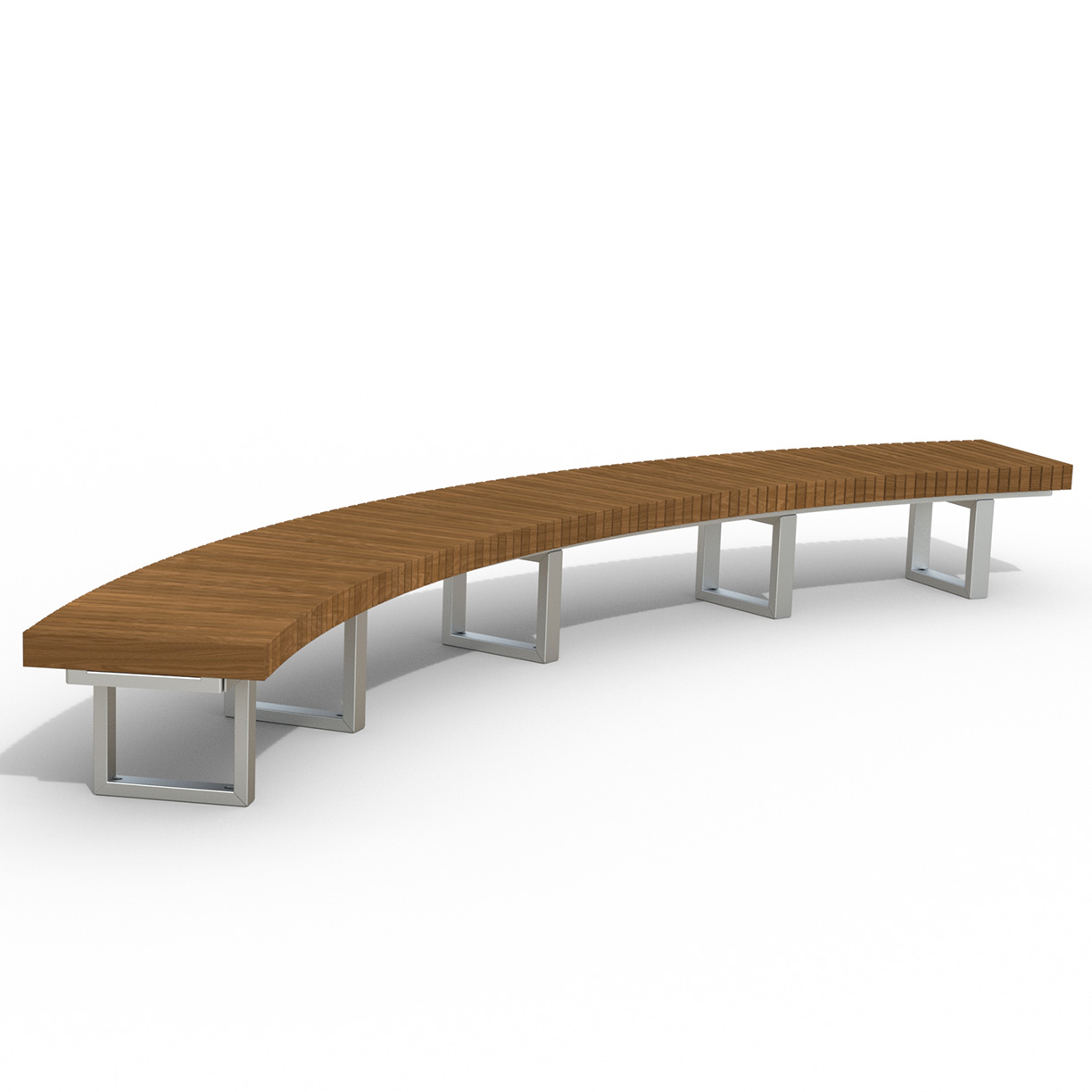 INF24C1660T  Infinity Collection 16' Radius / 60 Degree Curved Thermory Slat Bench