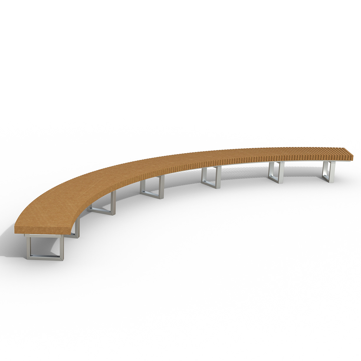 INF24C1690R  Infinity Collection 16' Radius / 90 Degree Curved Recycled Plastic Bench