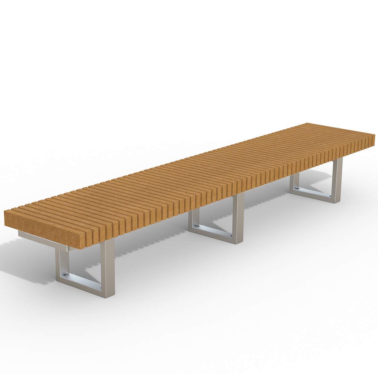 INF24L10R  Infinity Collection 2' x 10' Linear Recycled Plastic Bench
