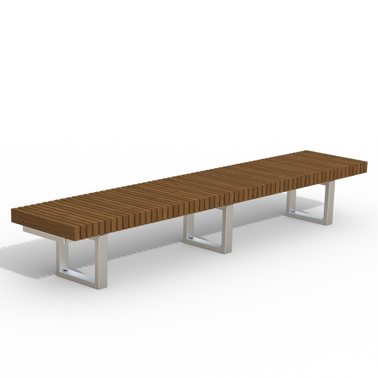 INF24L10T  Infinity Collection 2' x 10' Linear Thermory Slat Bench