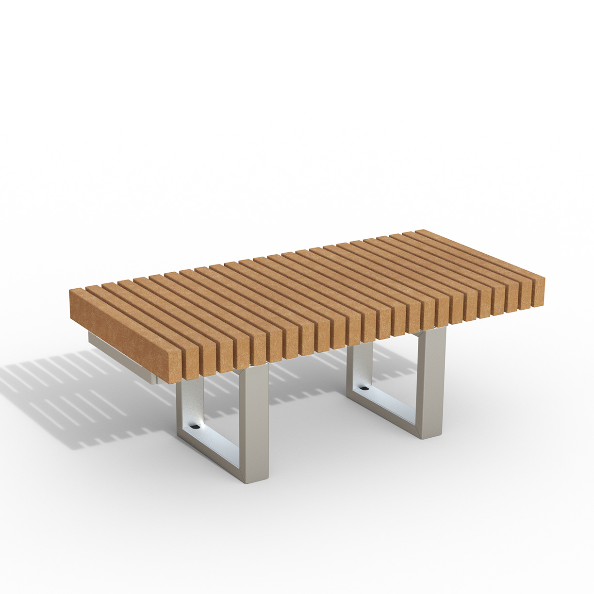 INF24L4R  Infinity Collection 2' x 4' Linear Recycled Plastic Lumber Bench