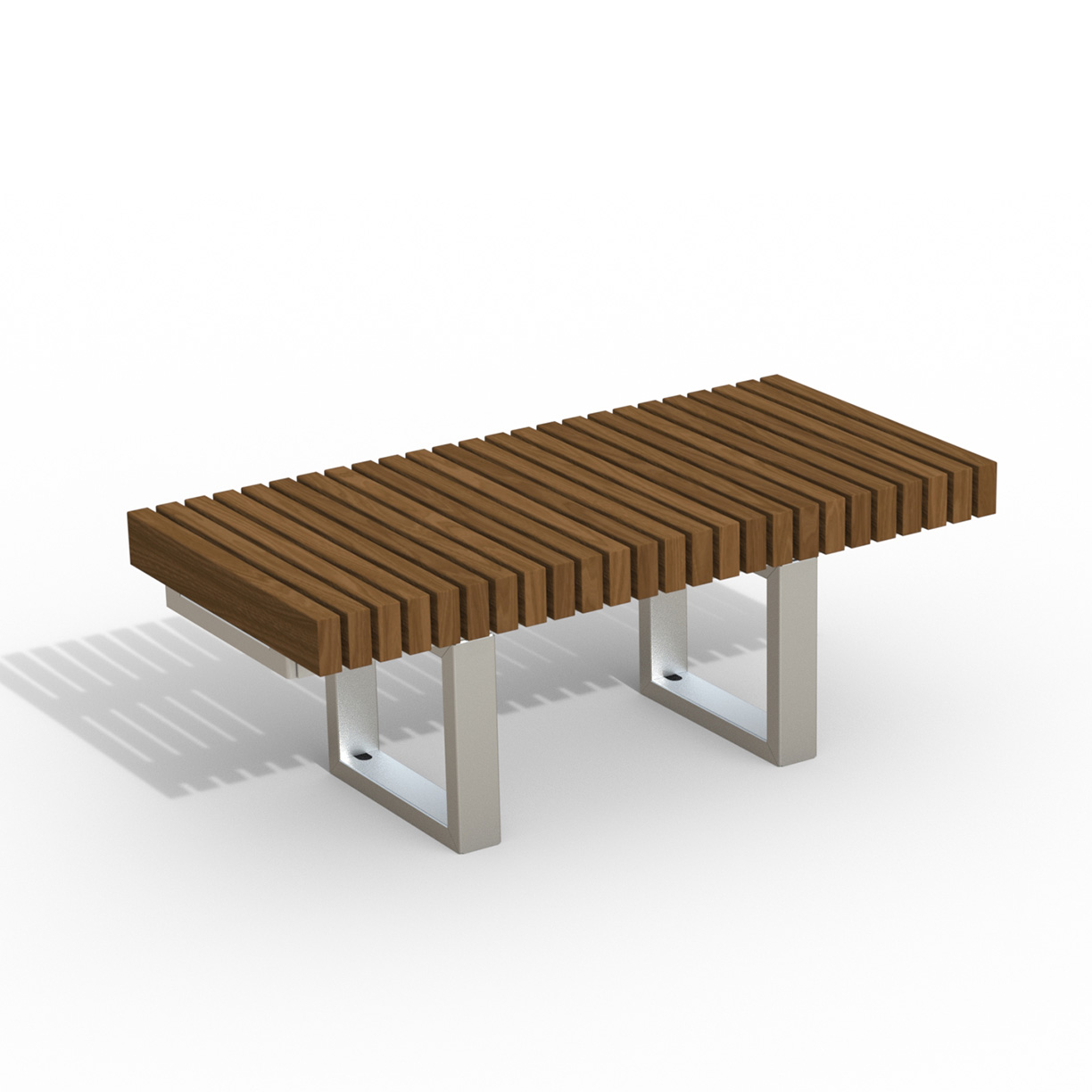INF24L4T  Infinity Collection 2' x 4' Linear Thermory Slat Bench