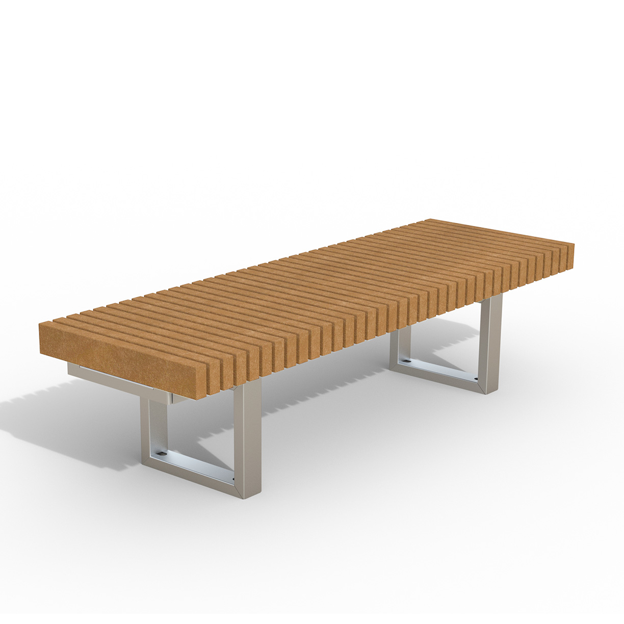 INF24L6R  Infinity Collection 2' x 6' Linear Recycled Plastic Bench