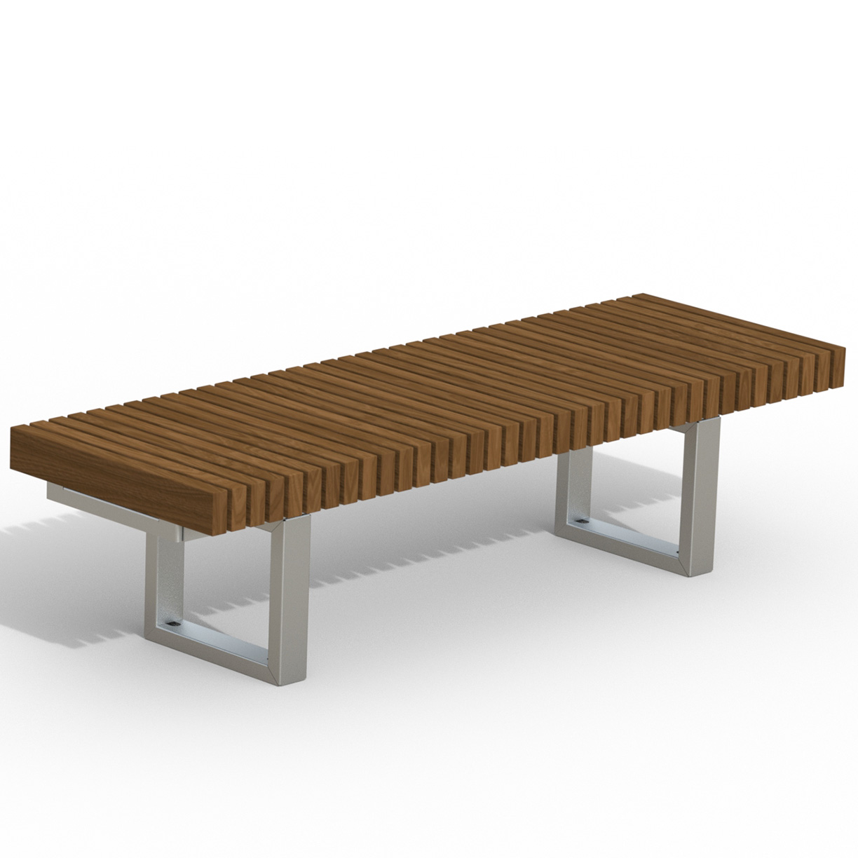INF24L6T  Infinity Collection 2' x 6' Linear Thermory Slat Bench