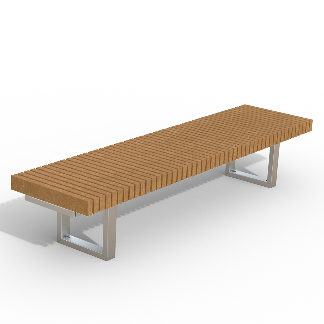 INF24L8R  Infinity Collection 2' x 8' Linear Recycled Plastic Bench