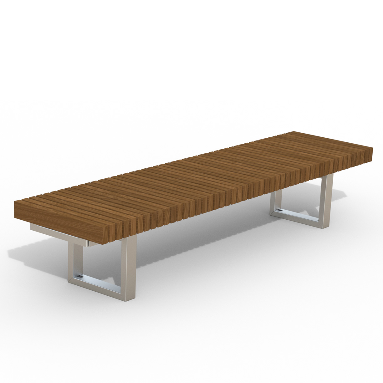 INF24L8T  Infinity Collection 2' x 8' Linear Thermory Slat Bench