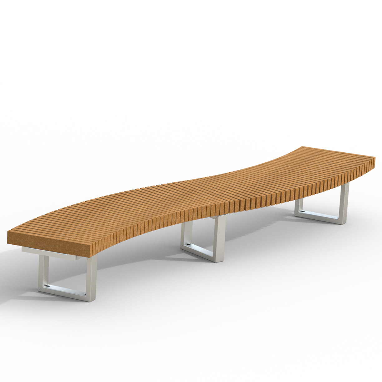 INF24S12X2R  Infinity Collection Alternating 30 Degree Serpentine Bench