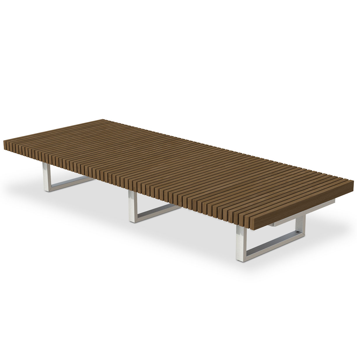 INF48L10T  Infinity Collection 4' x 10' Linear Thermory Slat Bench