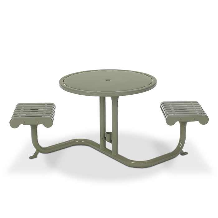 L1300 Rendezvous Bistro Table with (2) Flat Seats