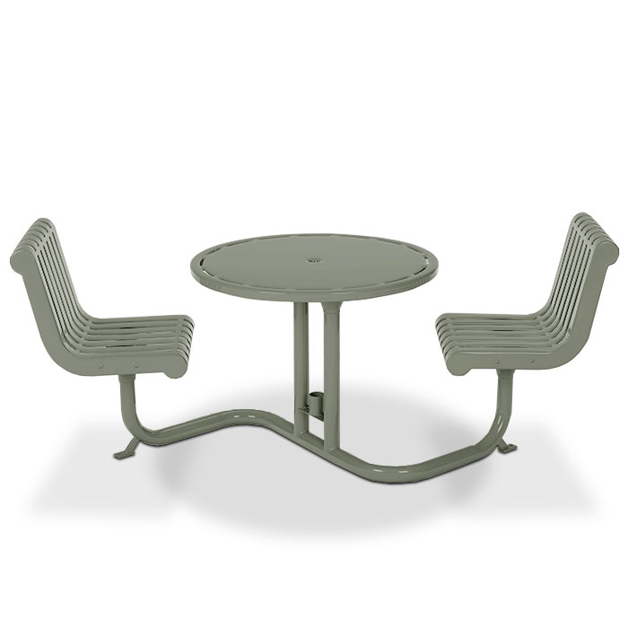 L1301  Rendezvous Bistro Table with (2) Fixed Contour Seats