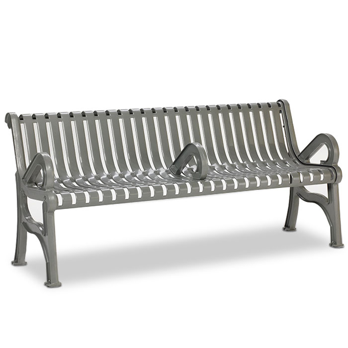 L1360A  Rendezvous 6' Contour Bench with Center Armrest