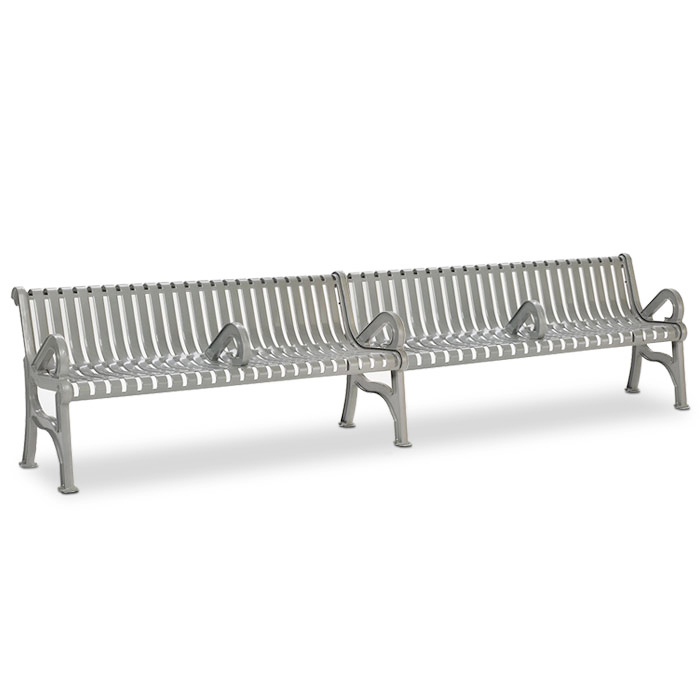 L1366A  Rendezvous 12' Contour Bench with Divided Seating