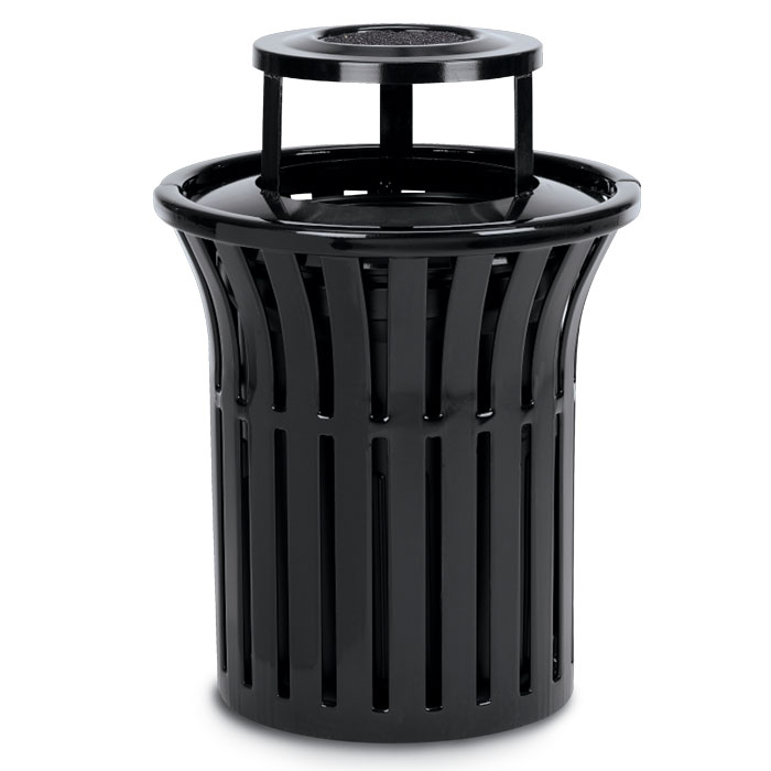 L1378AT  Rendezvous 32 Gallon Trash Receptacle with Ash Bonnet Top