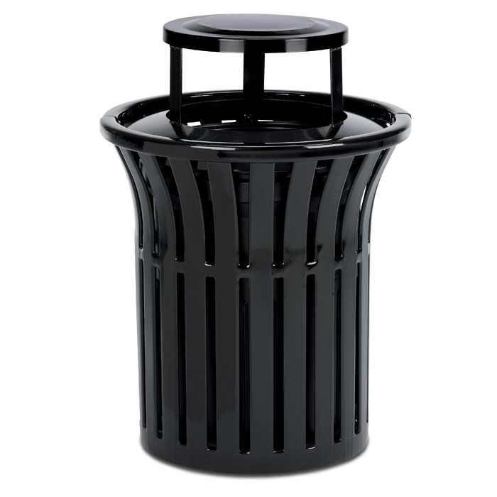 L1378BT  Rendezvous 32 Gallon Trash Receptacle with Bonnet Top