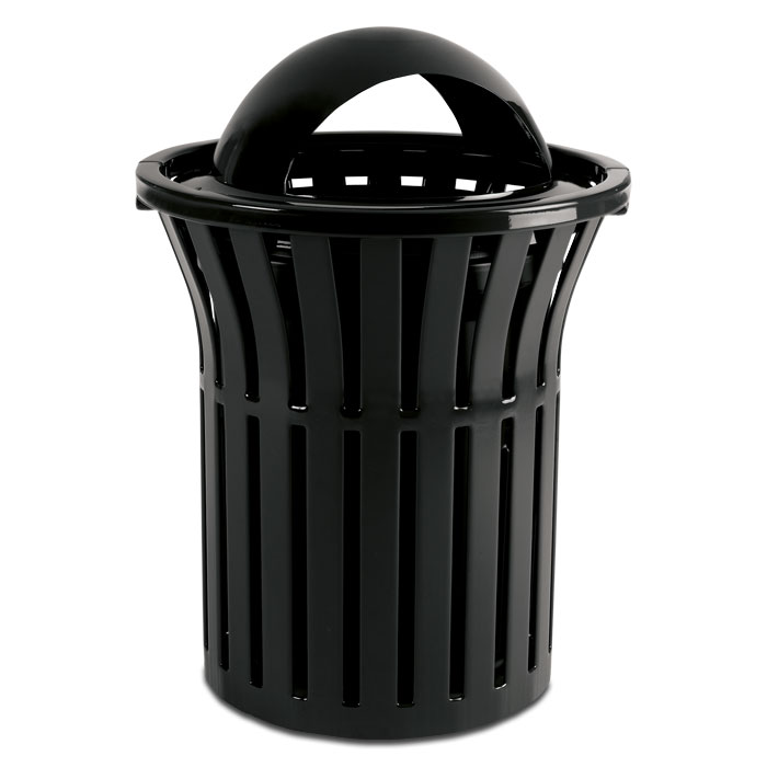 L1378OH  Rendezvous 32 Gallon Trash Receptacle with Open Hood Top