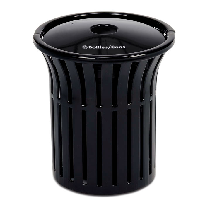 L1378RT  Rendezvous 32 Gallon Recycling Receptacle with Recycling Top