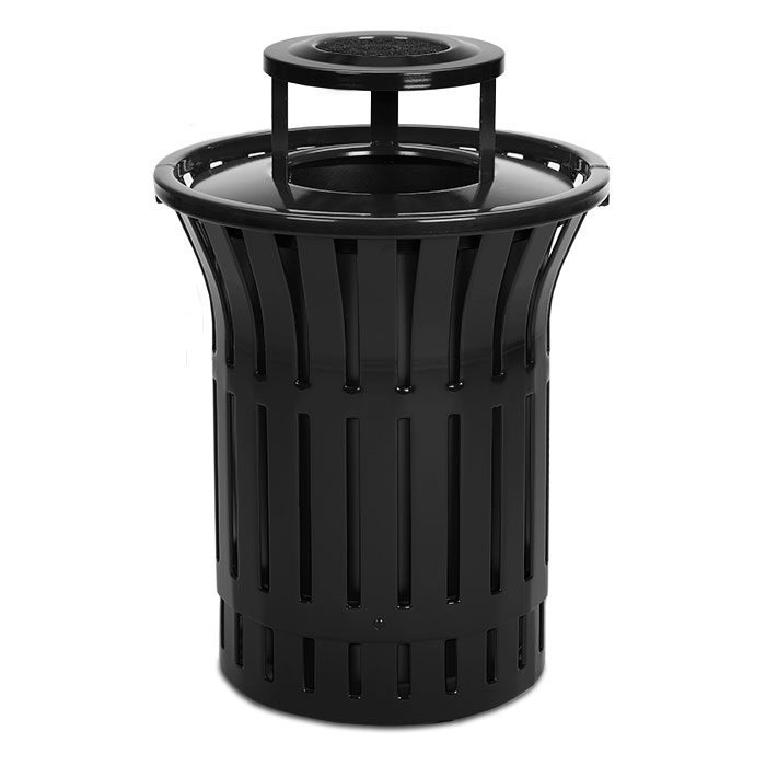L1380AT  Rendezvous 55 Gallon Trash Receptacle with Ash Bonnet Top