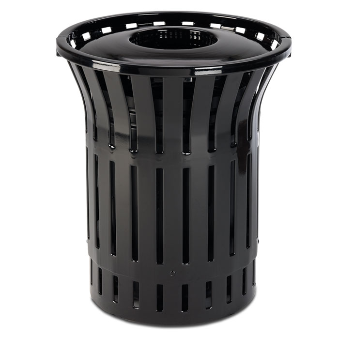 L1380CT  Rendezvous 55 Gallon Trash Receptacle with Convex Top