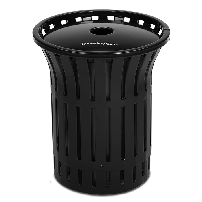 L1380RT  Rendezvous 55 Gallon Recycling Receptacle with Recycling Top