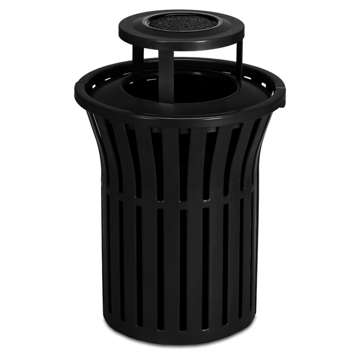 L1383AT  Rendezvous 40 Gallon Trash Receptacle with Ash Bonnet Top
