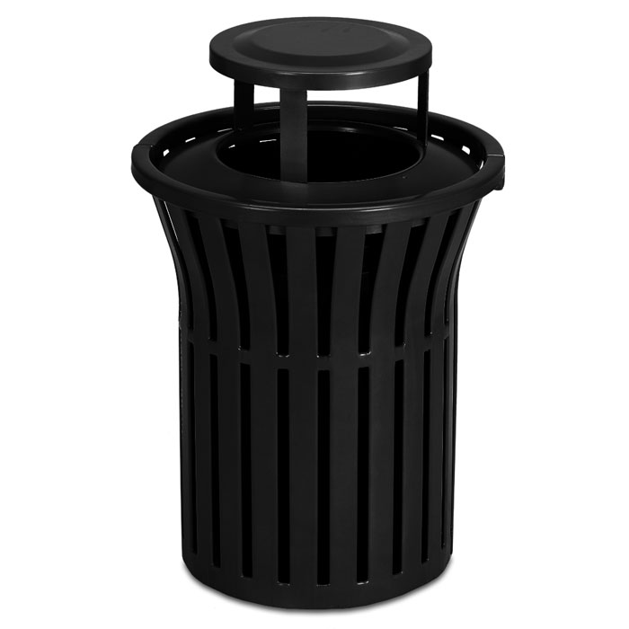 L1383BT  Rendezvous 40 Gallon Trash Receptacle with Bonnet Top
