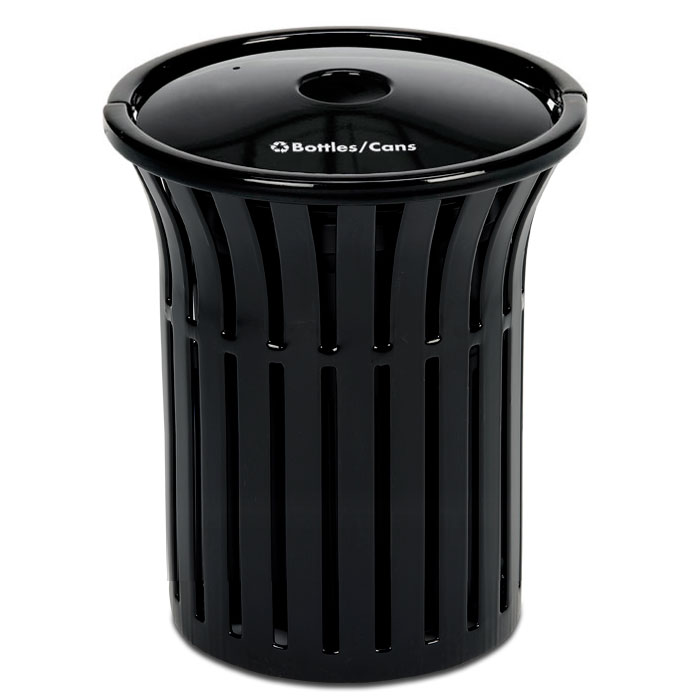 L1383RT  Rendezvous 40 Gallon Recycling Receptacle with Recycling Top