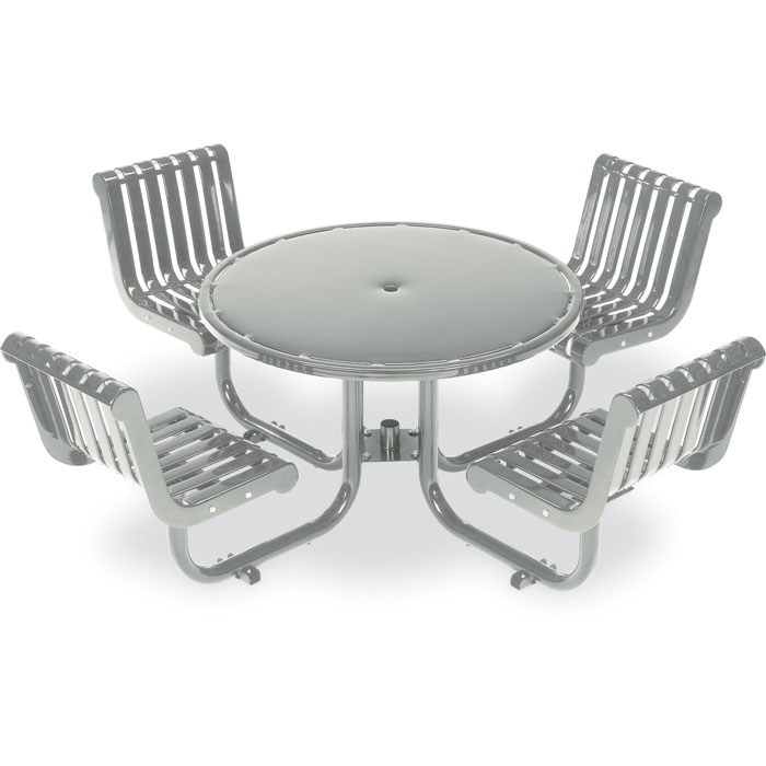L1388  Rendezvous Table with (4) Fixed Contour Seats