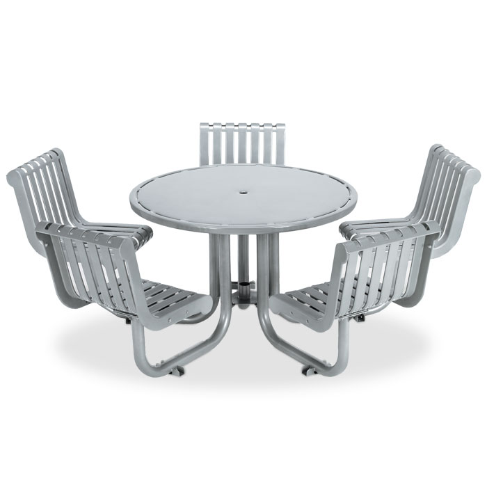 L1393S  Rendezvous Table with (5) Swivel Contour Seats