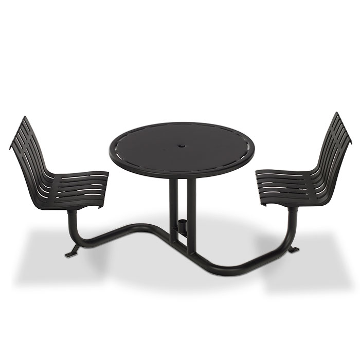 L1401S  Latitude Collection Table with (2) Swivel Contour Seats