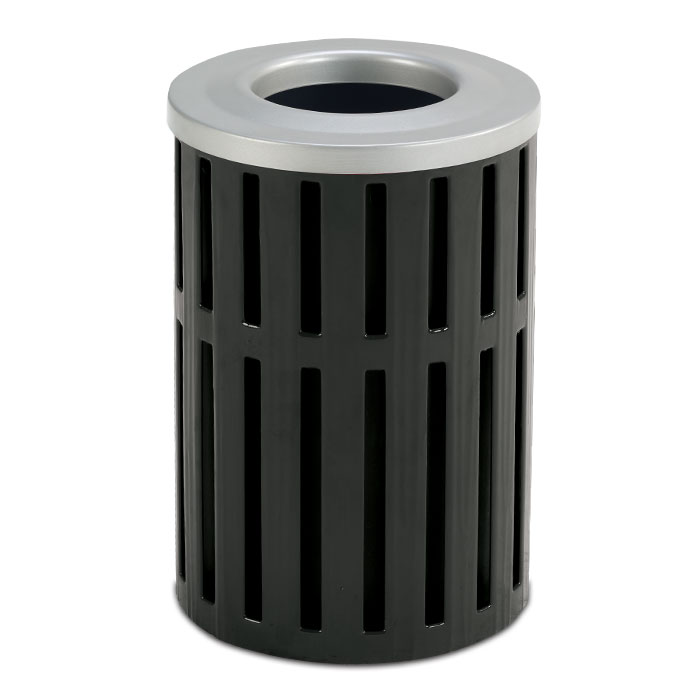 L1438  Latitude Collection 16 Gallon Open Top Trash Receptacle