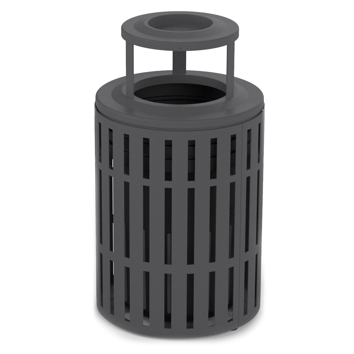 L1439AT  Latitude Collection 40 Gallon Trash Receptacle with Bonnet Ash Top