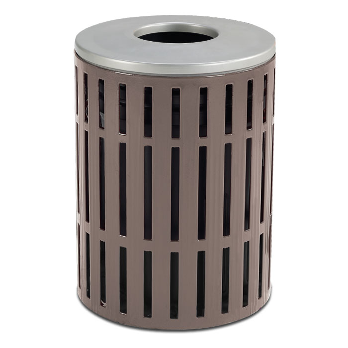 L1439  Latitude Collection 40 Gallon Open Top Trash Receptacle