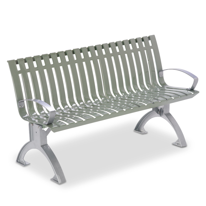 L1440A  Latitude Collection 4' Contour Bench with Armrests