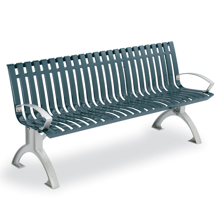 L1441A  Latitude Collection 6' Contour Bench with Armrests