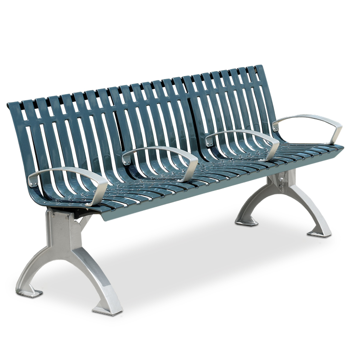 L1441P  Latitude Collection 6' Contour Bench with Divided Seating