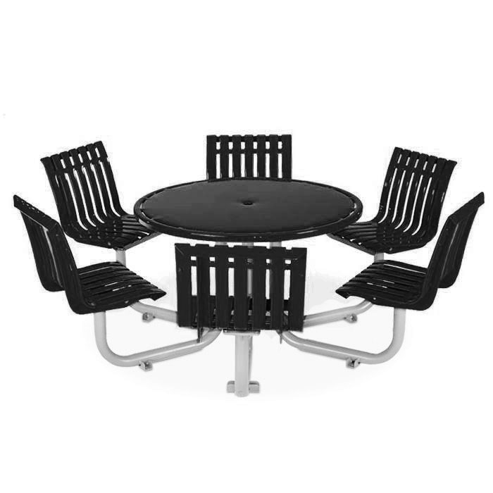 L1446  Latitude Collection Table with (6) Fixed Contour Seats